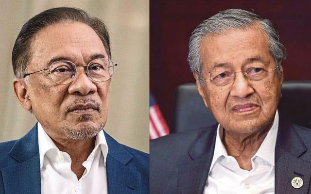 Tidak semua MP pembangkang sokong Anwar, dakwa Tun M